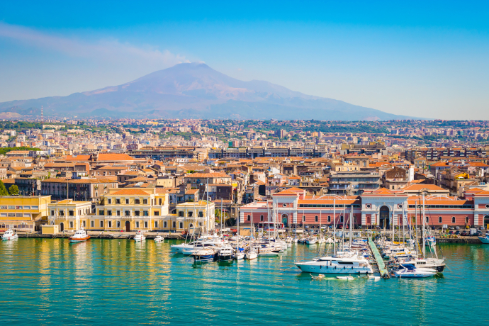 Catania is the second-largest city of the Italian island of Sicily.